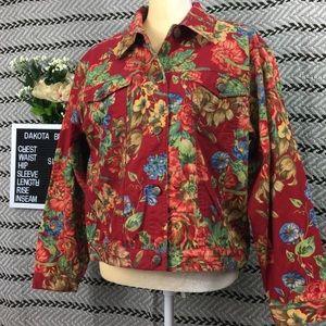 Susan Bristol fall jacket floral